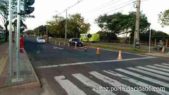 Trânsito Acidente danifica semáforo na Avenida Tancredo Neves, região do Porto Belo 18/05/2021 às - ® Portal da Cidade | Foz do Iguaçu
