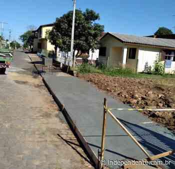 Bairros de Arroio do Meio são atendidos com reparos e conserto de calçadas - independente