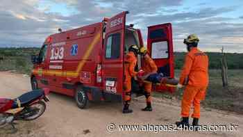 Acidente entre moto e bicicleta deixa homem ferido em Maragogi - Alagoas 24 Horas