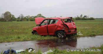 Wagen überschlägt sich auf L560 bei Stutensee: 32-Jähriger schwer verletzt - ka-news.de