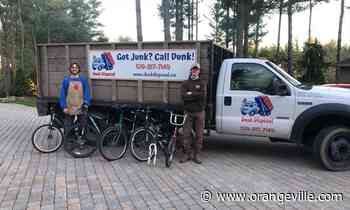 Orangeville junk removal company partners with cycle shop to get bikes back on the road - Orangeville Banner