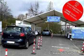 Coronatest Drive-In Bad Neuenahr-Ahrweiler hinter Bauhaus - Blick aktuell - Blick aktuell