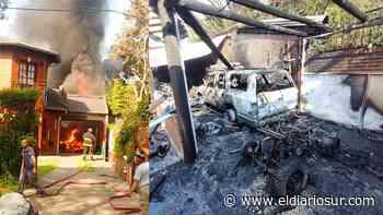 Se incendió un garaje en Monte Grande con vehículos dentro - El Diario Sur