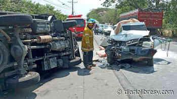Tres lesionados tras accidente de tránsito en Jiquilisco, Usulután - Diario Libre