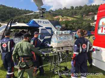 Após parto prematuro, gêmeos que nasceram em Ibatiba são transferidos de helicóptero para Grande Vitória - Aqu - www.aquinoticias.com