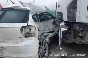 Colisão entre caminhão e carro deixa um morto em Satuba - Cada Minuto