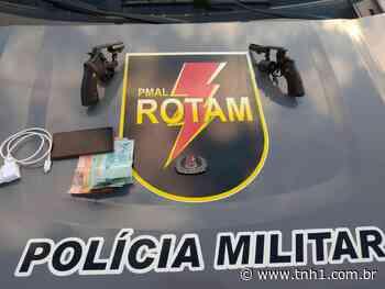 Mulher é presa enquanto transportava dois revólveres no município de Satuba - TNH1