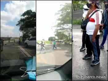 """A piedra levantaron vehículos que se """"escaparon"""" de bloqueo en Jamundí, denuncian """"se creen los dueños de las vías"""" - TuBarco"""