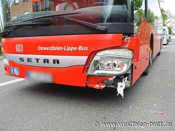 40-jährige Frau aus Kirchlengern und ein 15-jähriger Löhner werden bei einem Unfall leicht verletzt: Auto stößt mit einem Bus zusammen - Westfalen-Blatt
