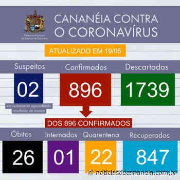 Boletim epidemiológico COVID-19 de Cananeia do dia 19/05 - Noticia de Cananéia
