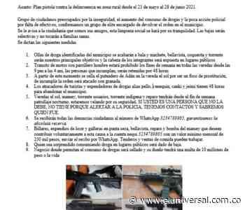 Los Mochacabezas aterrorizan al municipio de Coveñas mediante panfleto - El Universal - Colombia