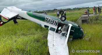 Ucayali: avioneta de la PNP cae en Pucallpa a pocos metros de aterrizar y tripulantes salen con vida | FOTOS - El Comercio Perú