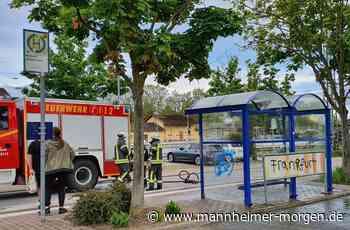 Unbekannte zünden in Biblis Bushaltestelle an - Biblis - Nachrichten und Informationen - Mannheimer Morgen