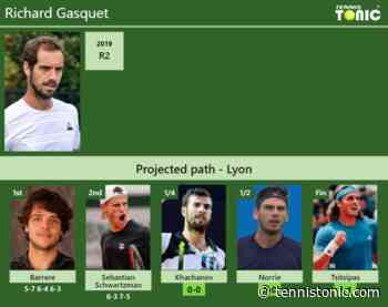[UPDATED QF]. Prediction, H2H of Richard Gasquet's draw vs Khachanov, Norrie, Tsitsipas to win Lyon - Tennis Tonic