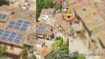 Greve in Chianti: il sorvolo sulla zona della casa crollata - Il Tirreno