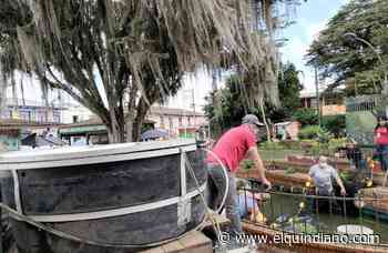 En Circasia se hizo mantenimiento de la fuente ubicada en el parque Bolívar - El Quindiano S.A.S.