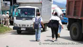 Cerrada la vía Armenia-Calarcá por movilización - La Cronica del Quindio
