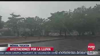 Continúan fuertes lluvias en Merida, Yucatán - Noticieros Televisa