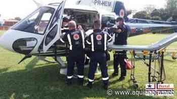 Rapaz tem ferimentos graves após acidente de trabalho em Terra Roxa - Aquiagora.net