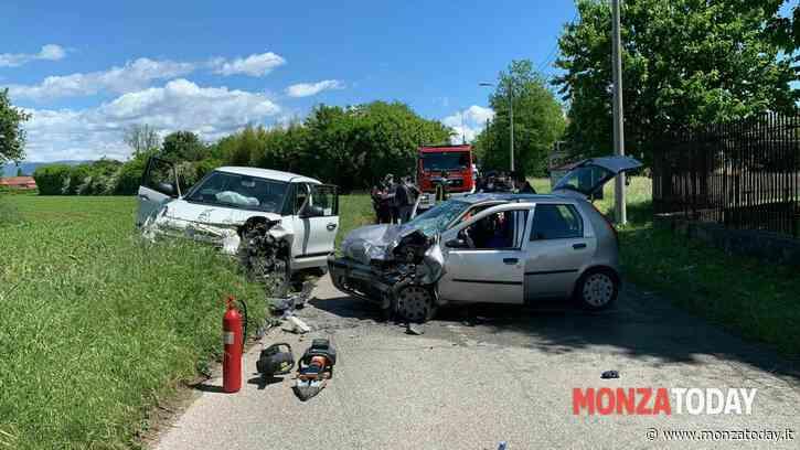 Incidente a Concorezzo, schianto frontale tra due auto: quattro feriti - MonzaToday