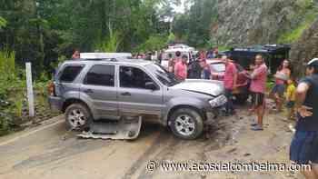 Piden intervención en la vía El Salado – San Bernardo, accidente dejó cuatro personas heridas - Ecos del Combeima