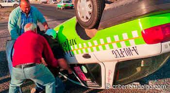 Vuelca taxi metropolitano en la carretera Pachuca-Sahagún - Criterio Hidalgo