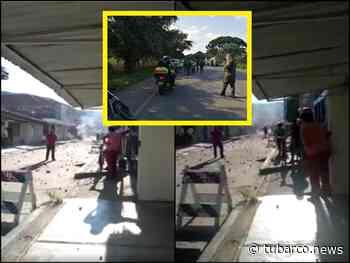 En Yotoco también se han presentado disturbios, Alcaldía y estación de Policía habrían sido atacadas - TuBarco