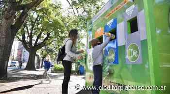 Se instaló un nuevo punto fijo de reciclaje en Plaza Alsina - eleditorplatense.com.ar