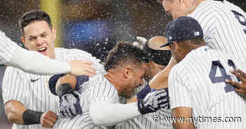 Yankees Turn a Triple Play and Get a Walk-Off Win