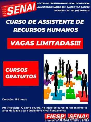 Senai Dracena abre inscrições para o curso de assistente de recursos humanos - Portal Regional Dracena