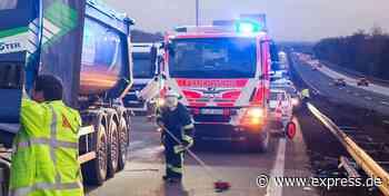 Schwerer Lkw-Unfall auf A3 bei Lohmar, Vollsperrung Richtung Köln - Express.de
