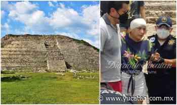Turista cae de una pirámide en Izamal - El Diario de Yucatán