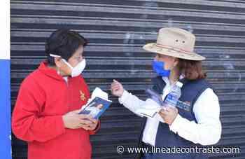 En Loma Bonita la ciudadanía le plantea a Claudia Pérez, mayor seguridad cuando gobierne - Linea de Contraste