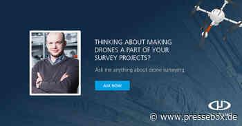 """Erhalten Sie Antworten auf Ihre Fragen zur Vermessung mittels Drohne im virtuellen """"Ask Me Anything""""-GeoMeet zur Drohnenvermessung von Microdrones - PresseBox"""