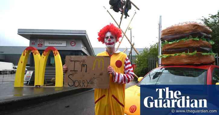 UK animal rights group blockades four McDonald's depots