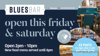 Blues Bar open today!