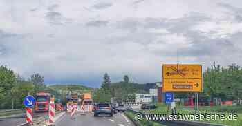 B29-Sperrung bei Lauchheim um eine Woche verlängert - Schwäbische