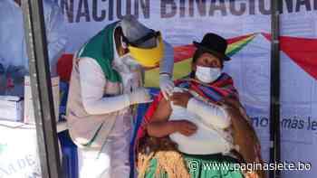 Bolivia y Perú dan inicio a la vacunación masiva en Desaguadero - Pagina Siete