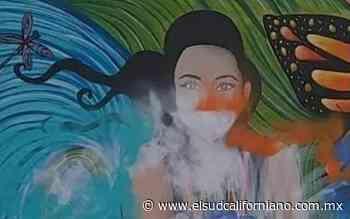 Vandalizan en Guerrero Negro mural de Aolanis víctima de feminicidio - El Sudcaliforniano
