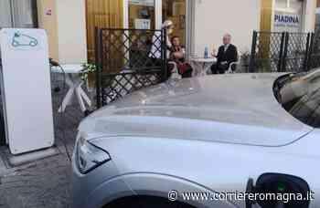 Longiano, piadina con ricarica auto elettrica: il primo cliente è stato un ambasciatore - Corriere Romagna