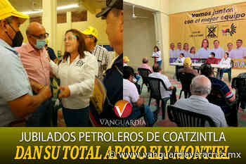 Jubilados petroleros de Coatzintla dan su total apoyo Ely Montiel y la alianza para este 6 de junio - Vanguardia de Veracruz