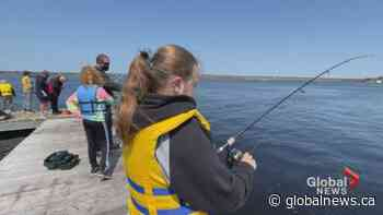 """Miramichi, NB students get """"Schooled"""" in the sport of fishing   Watch News Videos Online - Globalnews.ca"""