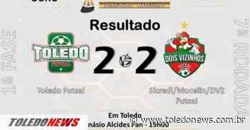 Toledo Futsal empata com o Dois Vizinhos pelo Campeonato Paranaense Chave Ouro - Toledo News