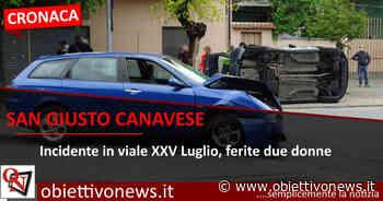 SAN GIUSTO CANAVESE - Incidente in viale XXV Luglio, 2 feriti (FOTO E VIDEO) - ObiettivoNews