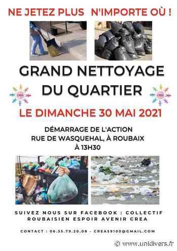 Action nettoyage quartier Ouest Rue de Wasquehal (parking) dimanche 30 mai 2021 - Unidivers