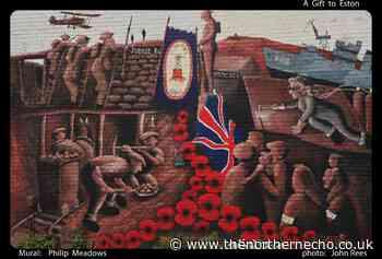 Saltburn artist creates mural of Eston's history - The Northern Echo