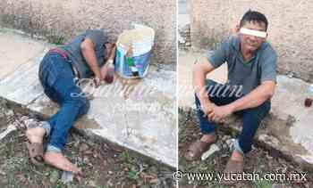Hombre tirado en la calle alarma a vecinos de Ticul: estaba dormido - El Diario de Yucatán