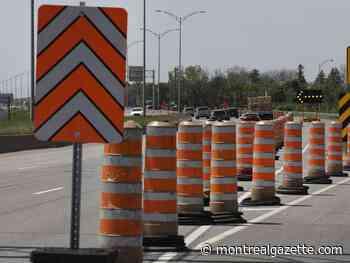 Weekend traffic: Closures on Bonaventure, Highway 40 and Ville-Marie - Montreal Gazette