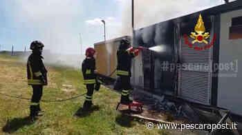 Incendio Pianella oggi, fiamme in cabina impianto fotovoltaico: vigili del fuoco in azione [VIDEO-FOTO] - PescaraPost
