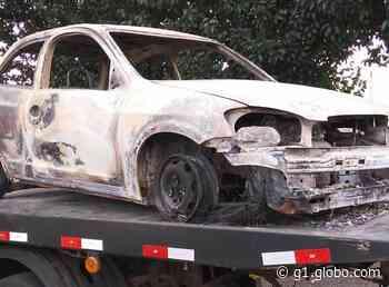Carro usado na fuga de suspeito de mortes em Lagoa Vermelha é encontrado incendiado - G1